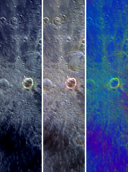 Multispectral views of Giordano Bruno from M3
