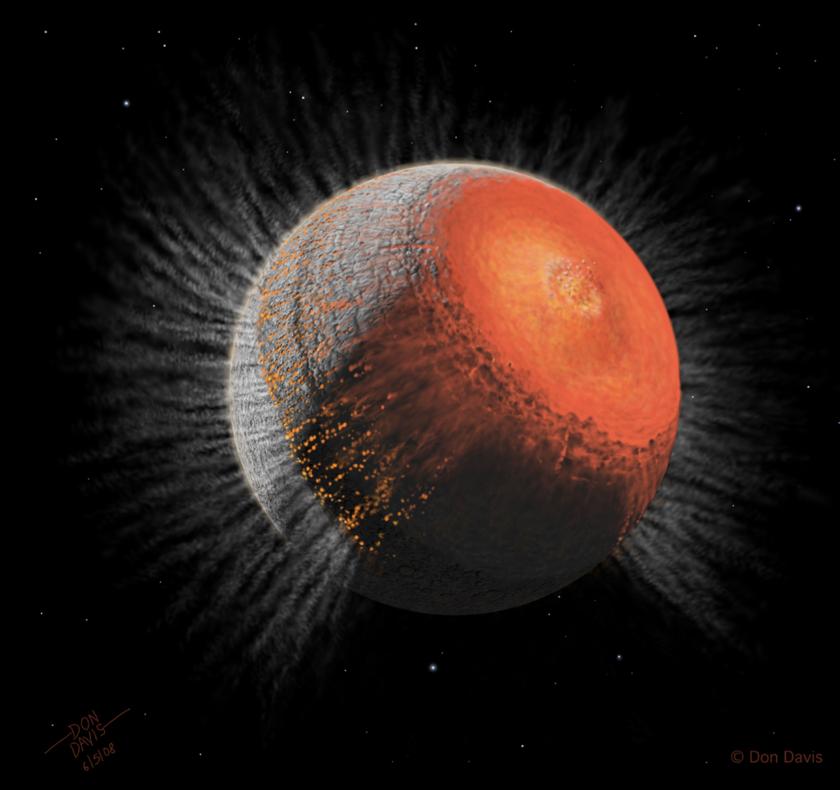 Origin of the Martian crustal dichotomy?