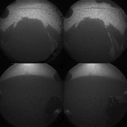 Curiosity's first photos