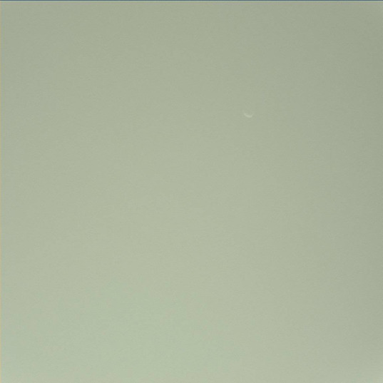 Phobos seen from the Martian surface, Curiosity sol 45 (September 21, 2012)