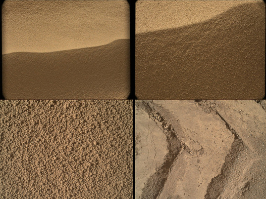 MAHLI images of Rocknest, Curiosity sols 56 and 58