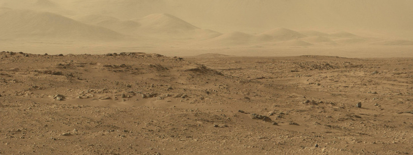 Panoramic view of northeastern hills, Curiosity sol 50