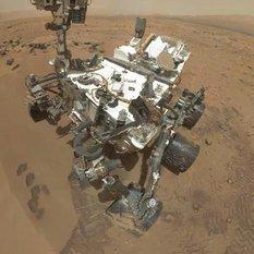 Preliminary version of Curiosity sol 84 self-portrait