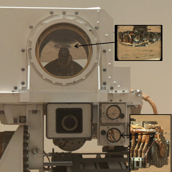 MAHLI images itself imaging the rover