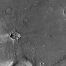 Small, fresh butterfly crater on Mars