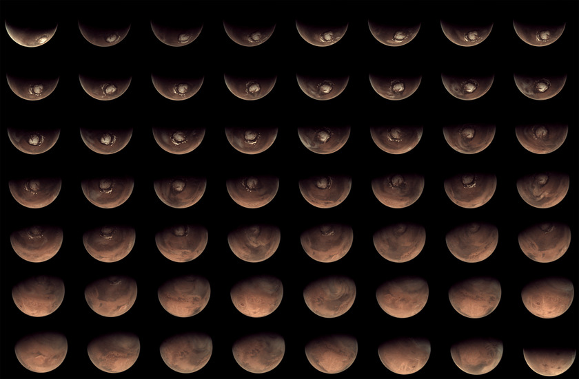 56 views of Mars from the Mars Webcam in 2012