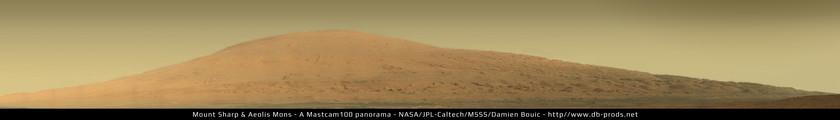 Mount Sharp / Aeolis Mons, Curiosity sol 45 Mastcam-100 panorama