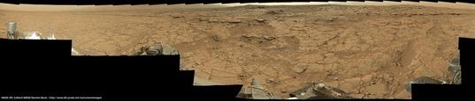 Curiosity panorama at