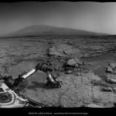 Curiosity Navcam panorama, sols 168-9