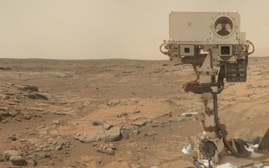 Curiosity sol 177 self-portrait (zoom)