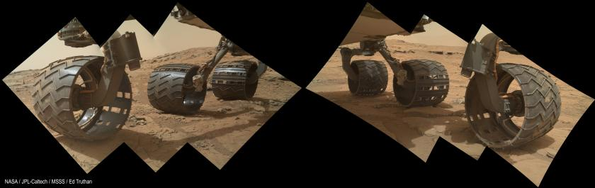 Curiosity belly panorama, sol 177