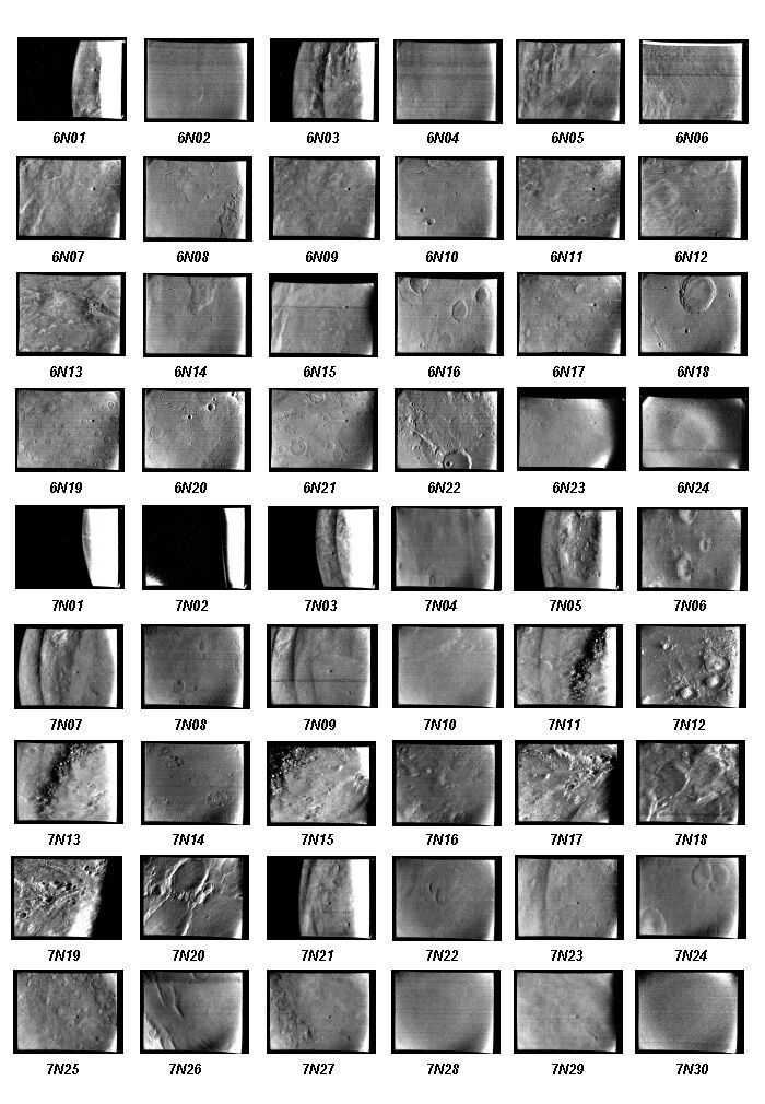 Mariner 6 and 7 near encounter image catalog