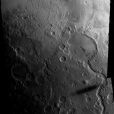 Gusev crater and Phobos' shadow from Mars Express