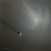 Comet encounter with Mars