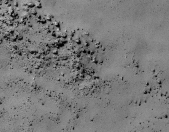 Boulders in the Mars-3 landing ellipse