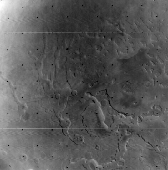Fretted terrain and Deuteronilus Mensae from Mariner 9