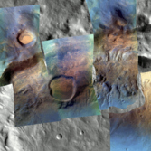 CRISM Reveals the Minerals of Lampland Crater - Visible Light 