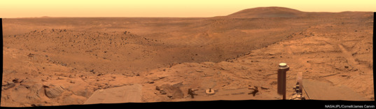 West Valley panorama, Spirit sol 1,366-1,369