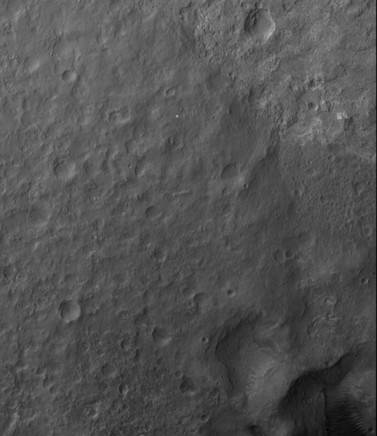 3D view of Curiosity's landing site from HiRISE