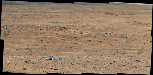 View down to Darwin from Panorama Point, Curiosity sol 387