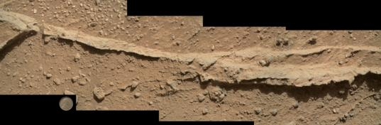 Close-up of Ridge in Rock Outcrop at Curiosity's