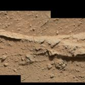 Close-up of Ridge in Rock Outcrop at Curiosity's 'Waypoint 1'