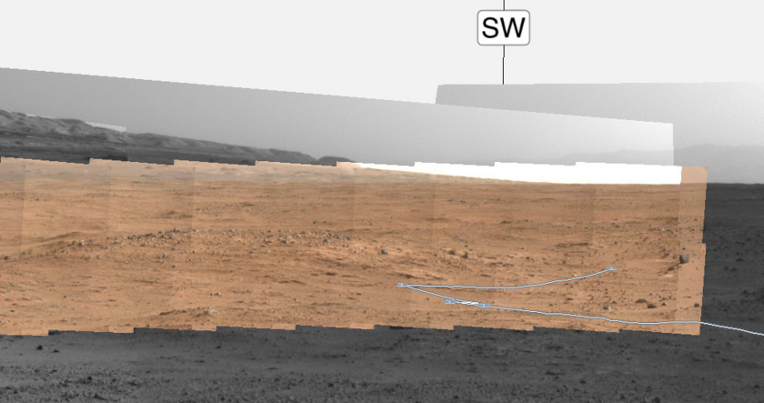 Midnight Mars Browser screen cap, Curiosity sol 388