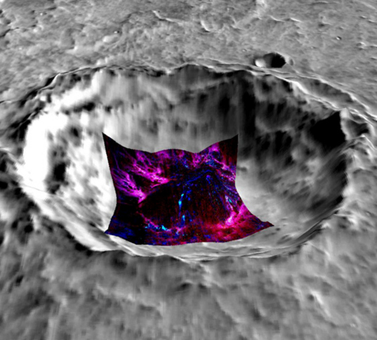 CRISM Finds Opal in a Martian Crater