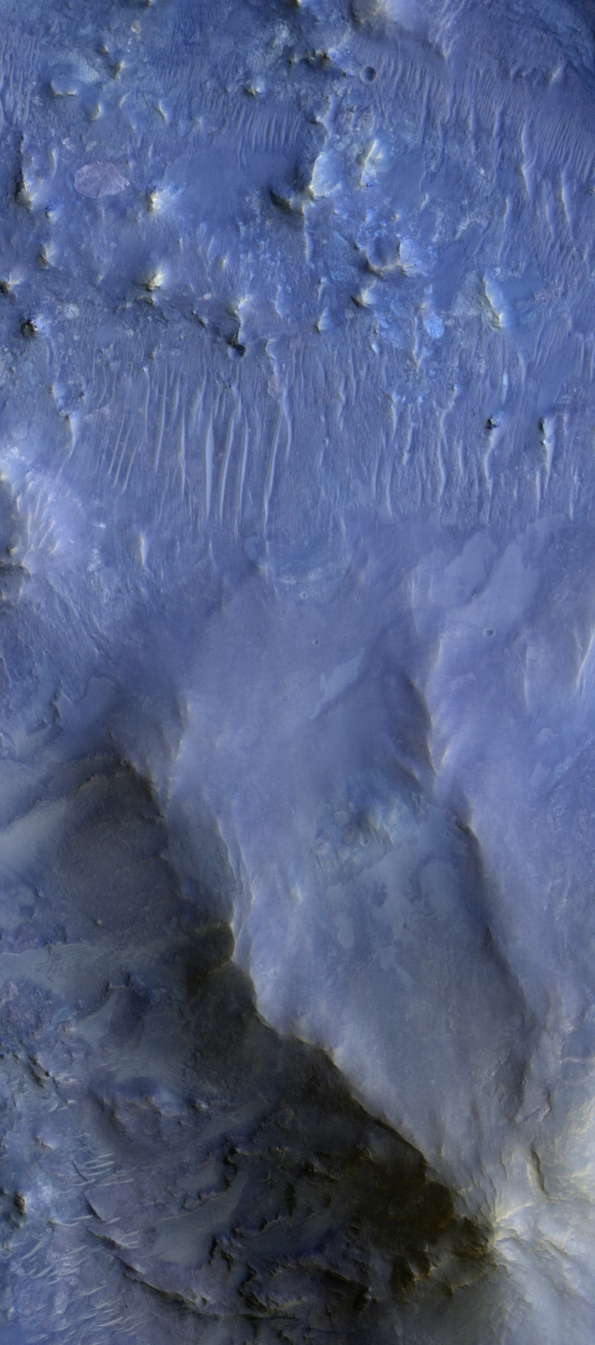 Martian Crater Rich in Opal