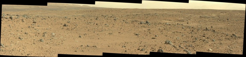 Rocky landscape approaching Waypoint 2, Curiosity sol 429