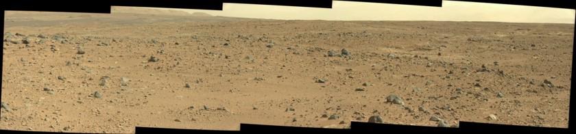 Rocky landscape approaching Waypoint 2, Curiosity sol 429