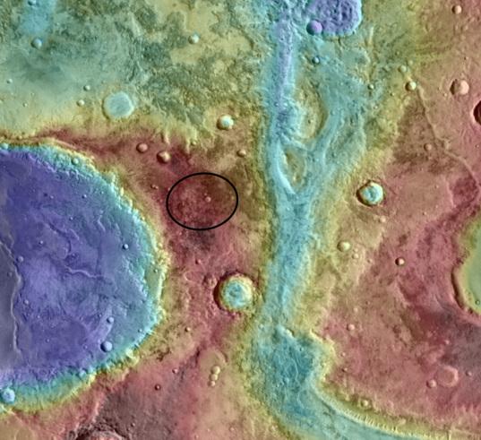 Curiosity landing site: Mawrth