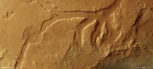 Channels and glaciers of Ismeniae Fossae, Mars