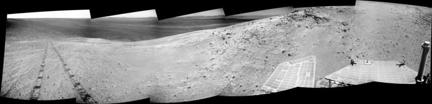 The View from Murray Ridge (Opportunity sol 3485)