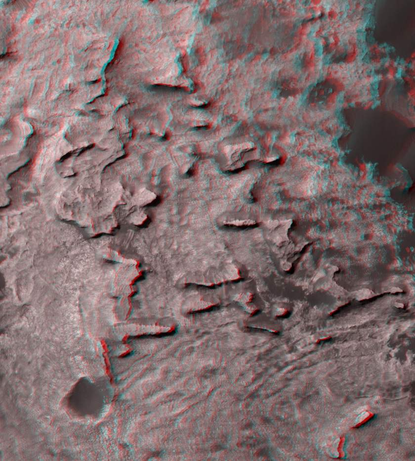 3d view of the Murray Buttes, Gale crater, Mars (zoom)