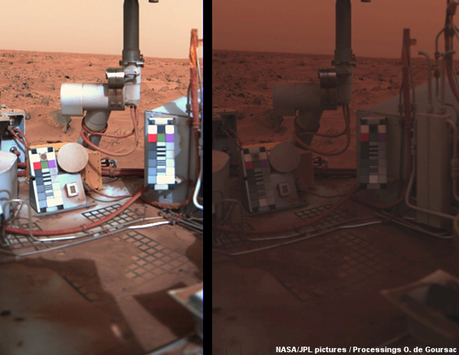 Dust storm at the Viking 1 lander site, 1977