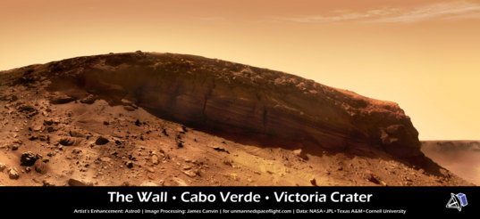 Cape Verde panorama from Opportunity, sols 1,570 to 1,578