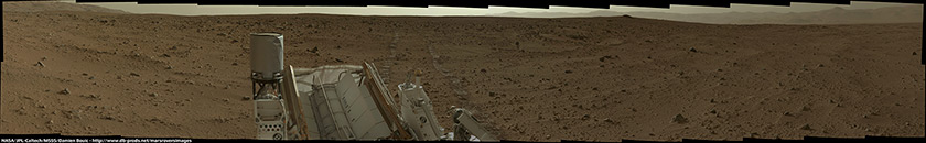 Late-afternoon panorama, Curiosity sol 50
