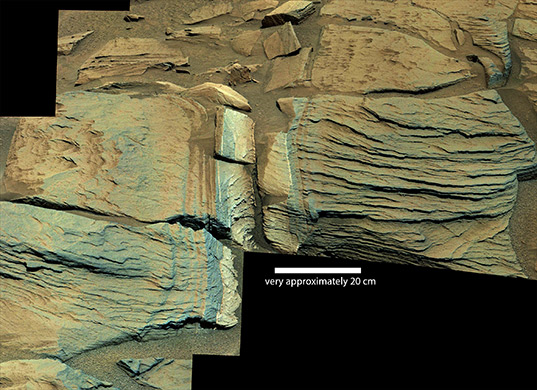 Outcrop near Jubilee Pass, Curiosity sol 747