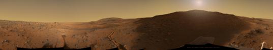 Spirit sunrise panorama at Troy