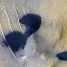 Dark ripple-covered dunes on Mars