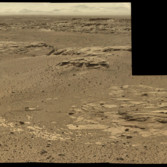 Outcrops in Violet Valley, Curiosity sol 546