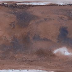 Color map of Mars: Viking Orbiter MDIM 2.1