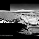 Navcam panorama of the Kimberley science stop from the north, Curiosity sol 581