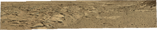 Mastcam-34 panorama of the Kimberley, Curiosity sol 589