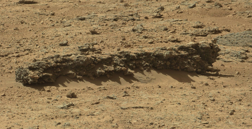 Conglomerate rock, Curiosity sol 588