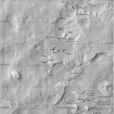 Phil Stooke's Curiosity route maps (updated to sol 595)