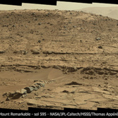 Mount Remarkable, the Kimberley, Mars (Curiosity sol 595)