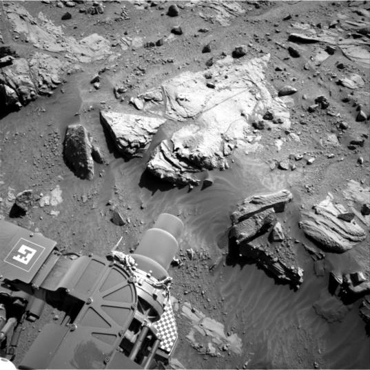 Navcam view of the proposed Curiosity Kimberley drill location, sol 609