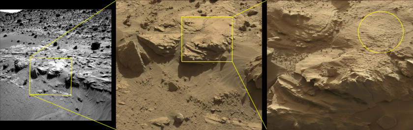 Proposed drill location at the Kimberley, Curiosity sol 606